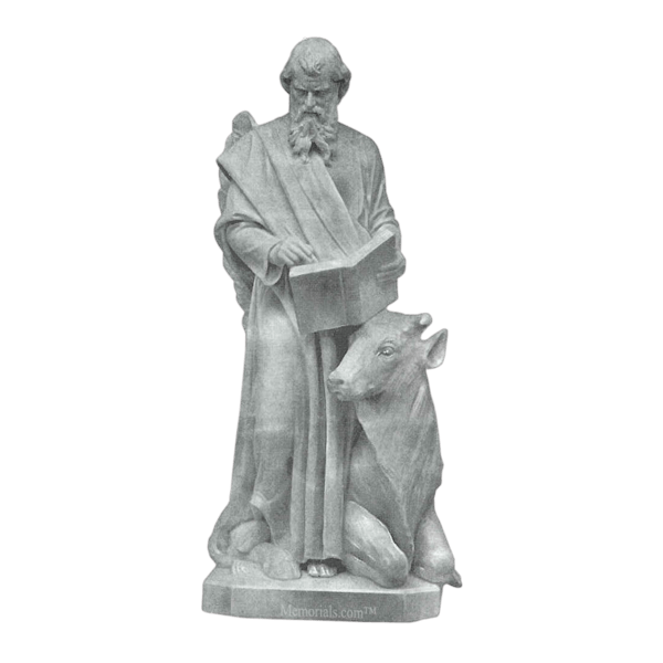 Saint Luke And Bull Granite Statue
