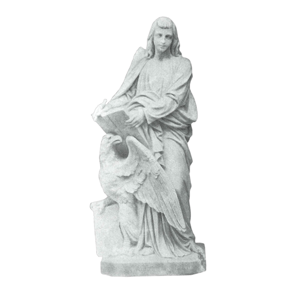Saint John And Eagle Granite Statue