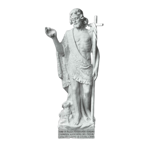 Saint John And Lamb Granite Statue