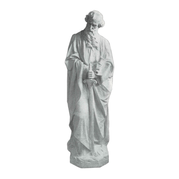 Saint Paul And Sword Granite Statue