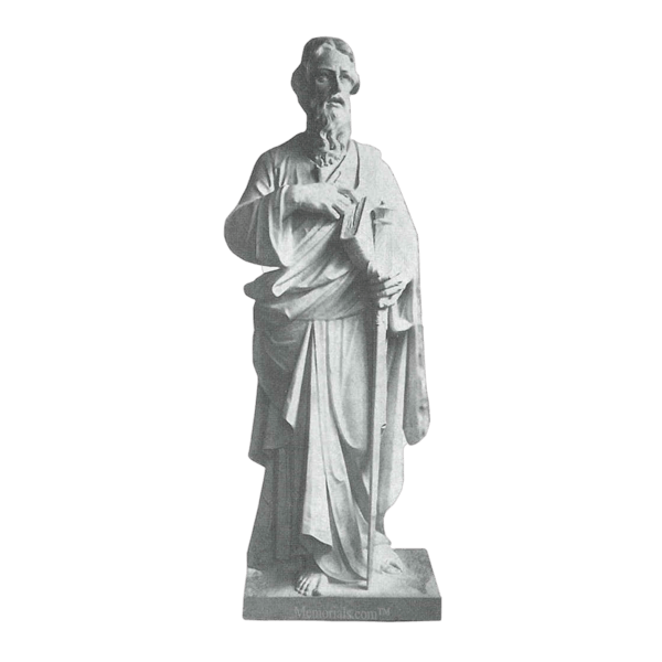 Saint Paul Scripture Granite Statue