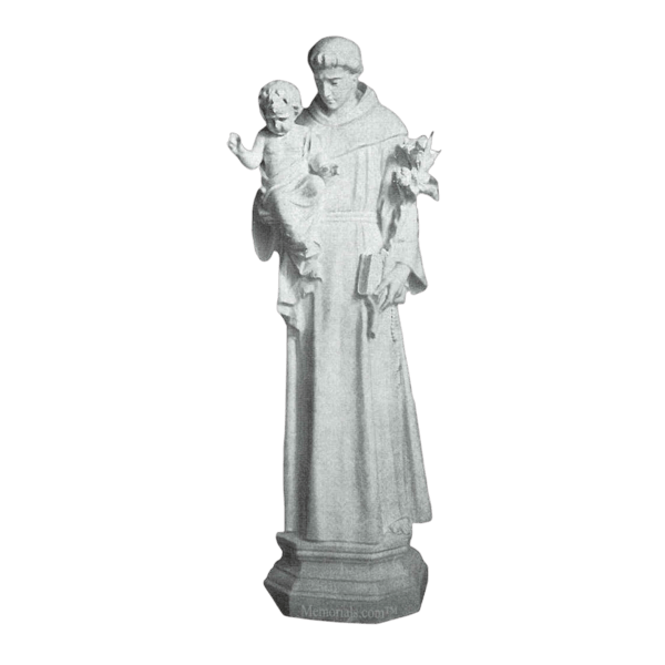 Saint Anthony And Baby Granite Statue