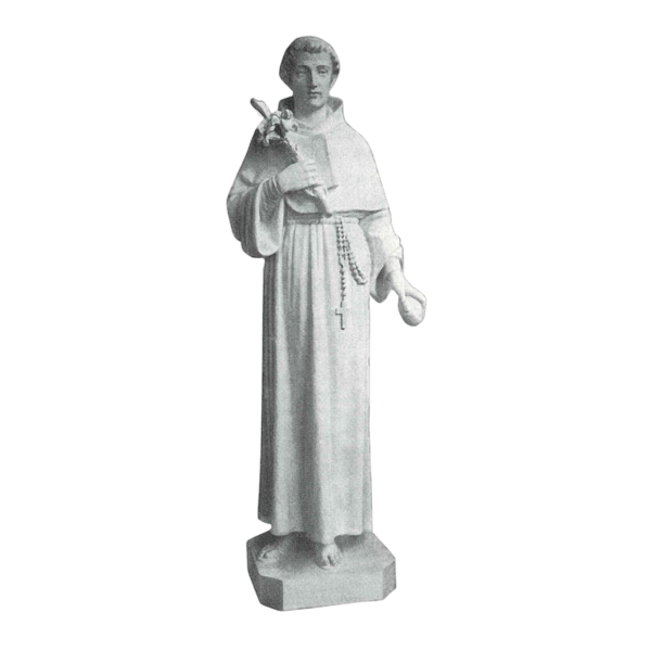 St. Anthony Rosary Granite Statue