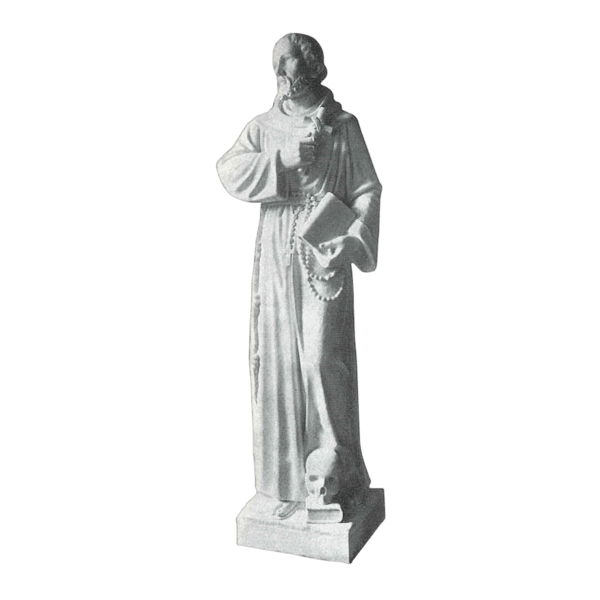 St. Francis And Bible Granite Statue