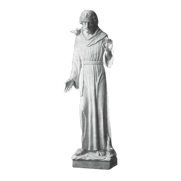 St. Francis Of Assisi Granite Statue