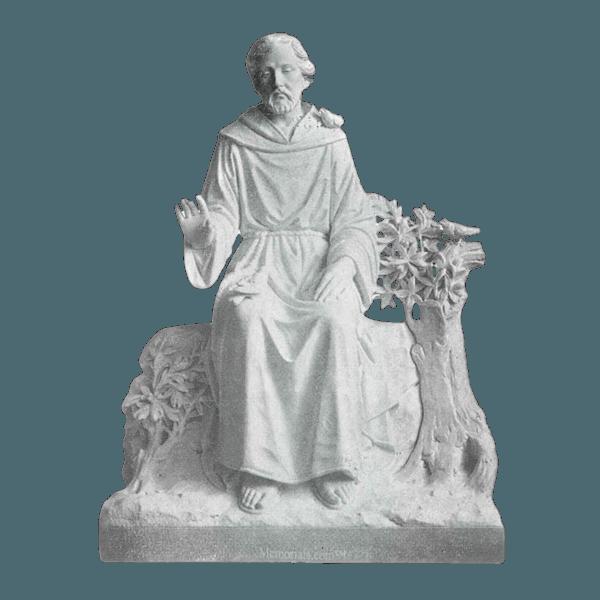Oak Tree Prayer Marble Statue