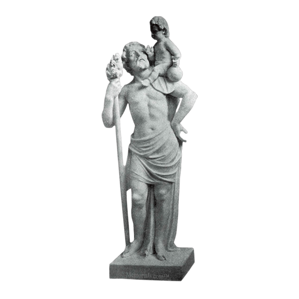 St. Christopher Marble Statue