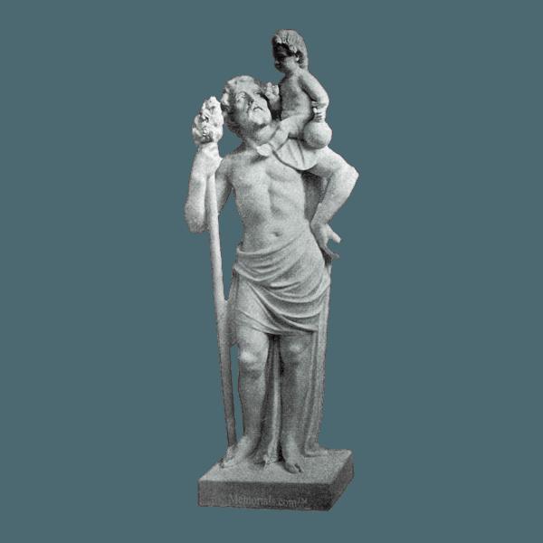 St. Christopher Granite Statue