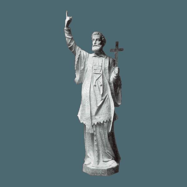 St. Francis Xavier Granite Statue
