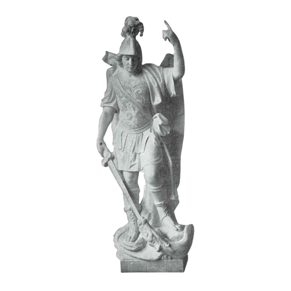 St. Michael Archangel Granite Statue
