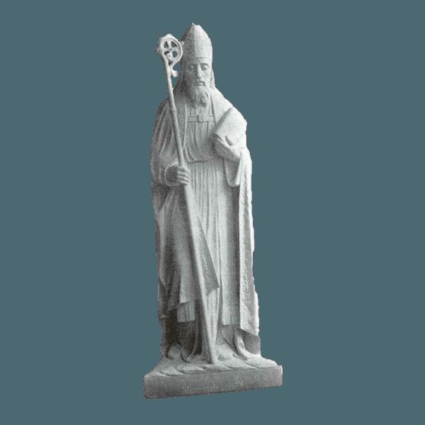 St. Patrick Marble Statue