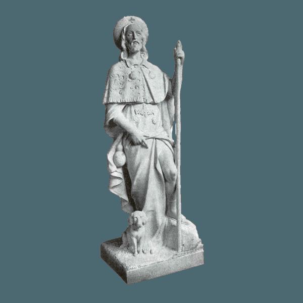 St. Roch Granite Statue