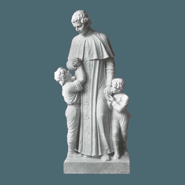 St. John Bosco Marble Statue