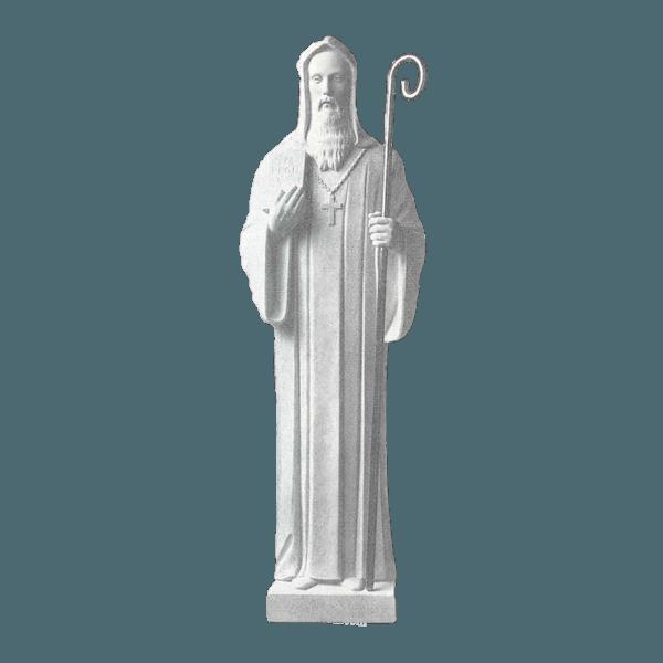 St. Benedict Marble Statue