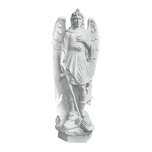 Saint Michael Archangel Granite Statue