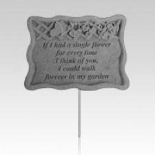 Single Flower Pet Memorial Stake