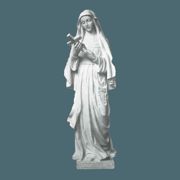 St. Rita Granite Statue VII