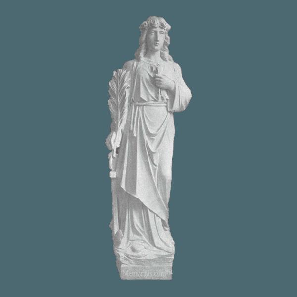 St. Philomena Granite Statue III