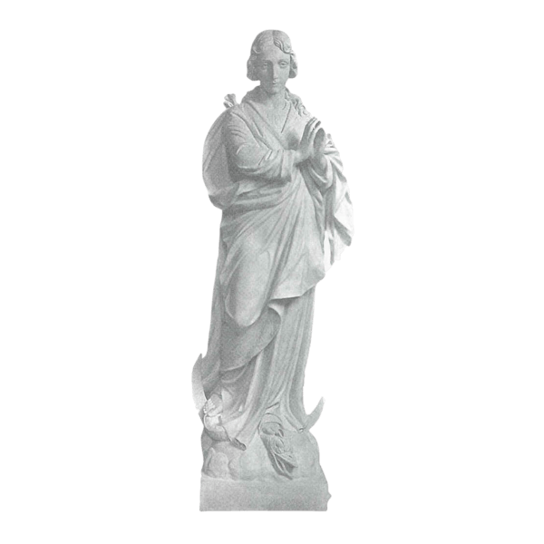 Virgin Birth Marble Statue