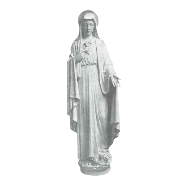Sacred Heart Of Mary Marble Statue