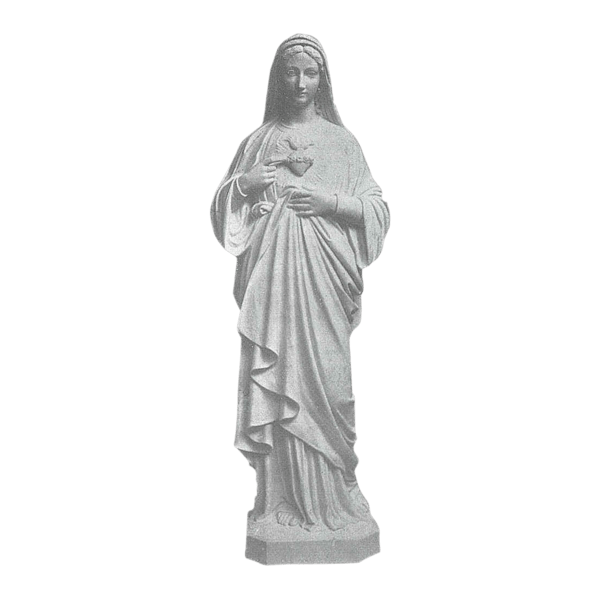 Heart Of Mary Marble Statue