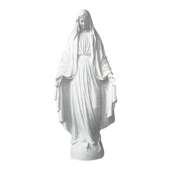 Our Lady Of Miracles Granite Statue