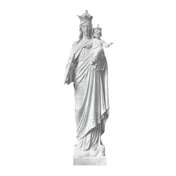 Mary And Jesus Marble Statue