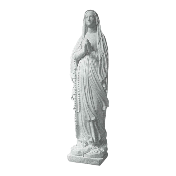 Lady Of Lourdes Marble Statue