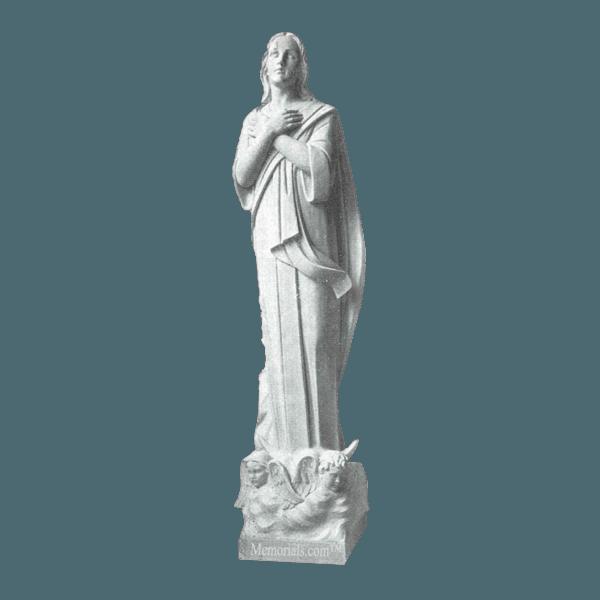 Faithful Children Marble Statue