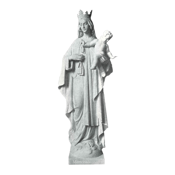 Our Lady Of Mt. Camel Marble Statue