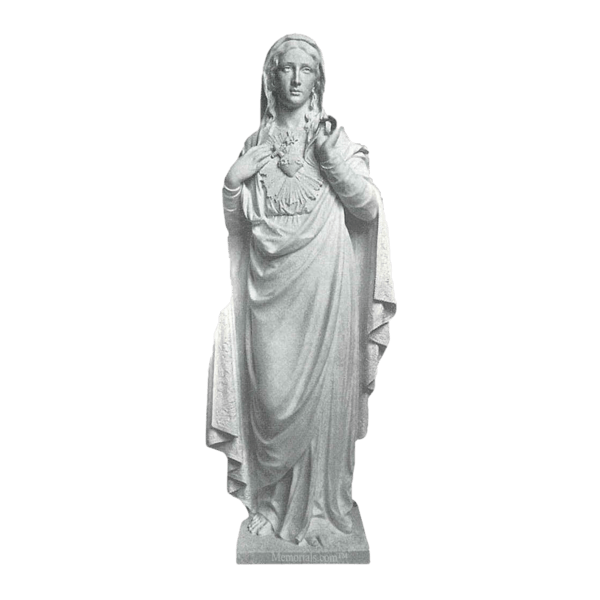 Sacred Mary Marble Statue