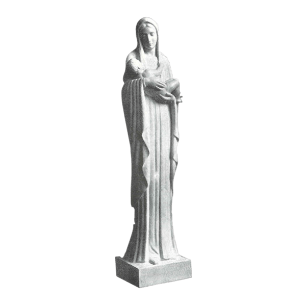 Mary And Infant Marble Statue
