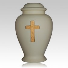 Cross Ivory Cremation Urn