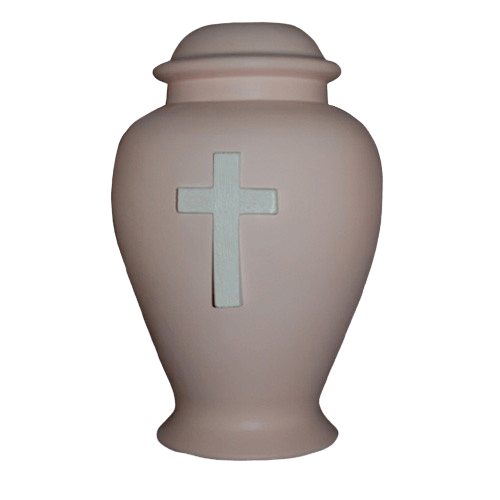 Cross Pink Cremation Urn