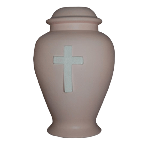 Cross Pink Cremation Urn