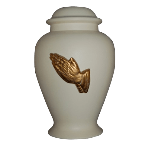 Praying Hands Ivory Cremation Urn