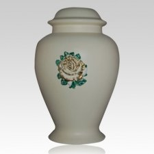 Charity Ivory Ceramic Cremation Urn
