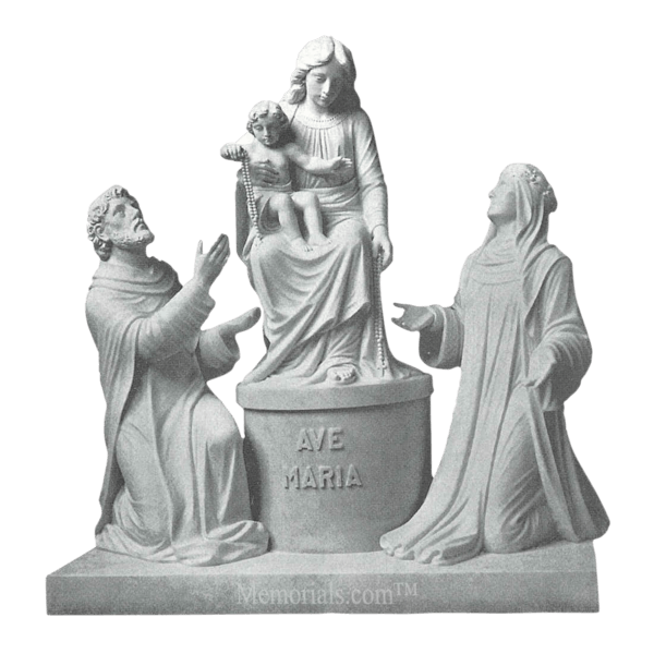 Our Lady Of Pompei Marble Statue