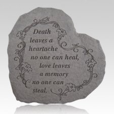 Death Leaves A Heartache Heart Shaped Stone