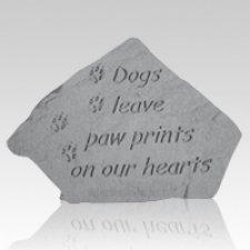 Dogs Paw Prints Memory Stone