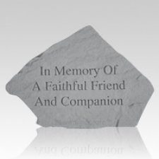 In Memory Of A Faithful Friend Memorial Stone