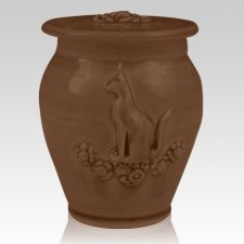 Kitty Ruby Black Ceramic Cremation Urn