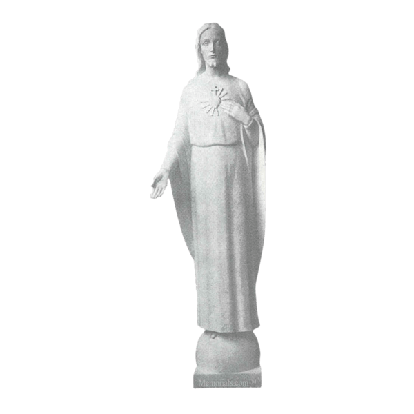 Heart Of Jesus Marble Statue