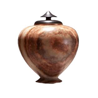 African Brown Keepsake Cremation Urn