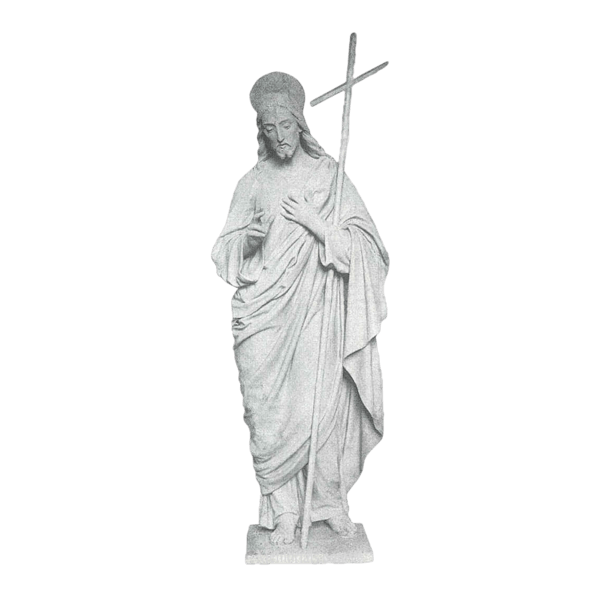 Jesus And Cross Marble Statue