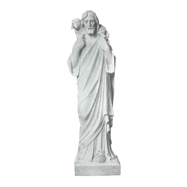 Jesus The Good Shepherd Marble Statue