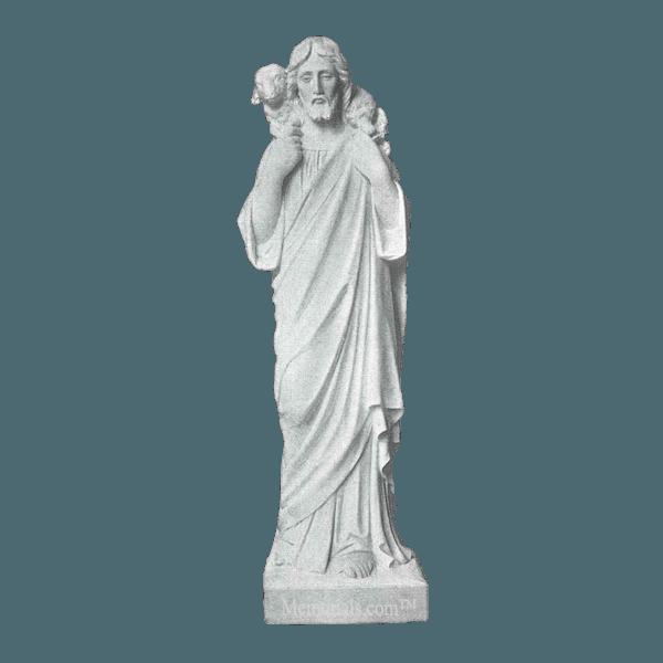 Jesus The Good Shepherd Marble Statue