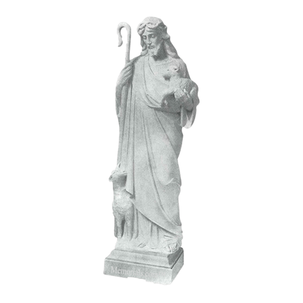 Jesus And Lambs Marble Statue