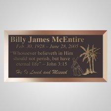 Carrying Cross Bronze Plaque