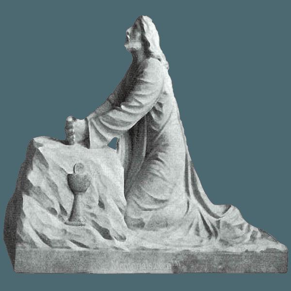 Jesus In Gethsemane Granite Statue
